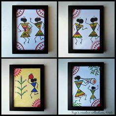 Madhubani Art, Madhubani Painting, Worli Painting, Fabric Painting, Diy Wall Art, Diy Art, Dance Paintings, Indian Folk Art, Indian Crafts