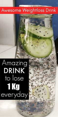 Drink This Daily To Lose 1 Kg Everyday weightloss drink weightlossgoals weightlossdrink natural chiaseeds lemon weightlossbeforeafter fatcutter homeremedies 699113542137073808 Detox Diet For Weight Loss, Weight Loss Meals, Weight Loss Drinks, Chia Seed Recipes For Weight Loss, Water For Weight Loss, Best Weight Loss, Drinks To Lose Weight, Smoothies For Weight Loss, Losing Weight Fast