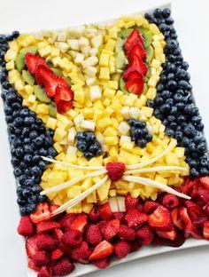 Easter Fruit & Veggie Tray Ideas | Easter Bunny Fruit Platter