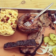Check Out Pecan Lodge in Dallas, TX as seen on Diners, Drive-ins and Dives and featured on TVFoodMaps. Known for located in a farmers market, known for their brisket and homemade bbq sauce