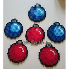 Christmas baubles perler beads by malins.parlor
