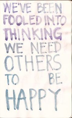 We need to be happy to ourselves first before we can be happy for others.