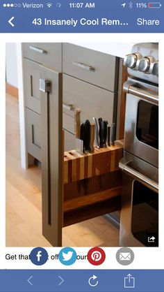 great for a skinny cabinet