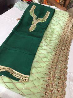 Beautiful green palazzo suit Punjabi Suits Designer Boutique, Boutique Suits, Designer Punjabi Suits, Indian Designer Wear, Green Suit Women, Suits For Women, Clothes For Women, Pakistani Fashion Party Wear, Punjabi Fashion