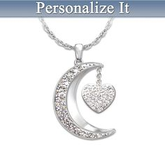 I Love My Family Personalized Diamond Pendant Necklace    I know this is suppose to be for a Mom, but I think it would be really cool with my Parents and siblings names.