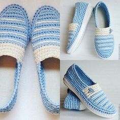 This would be awesome to make! Crochet Sandals, Crochet Boots, Crochet Slippers, Crochet Clothes, Crochet Shoes Pattern, Shoe Pattern, Knit Shoes, Sock Shoes, Artisanats Denim
