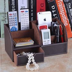 pack Of 16 Extremely Efficient In Preserving Heat Tv Remote Control Caddy Black Wood Revolving Storage Holder Wooden