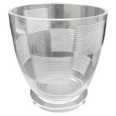 Steuben Walter Dorwin Teague & Frederick Carder Etched Vase
