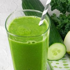 Kale Cucumber Pear Smoothie - Fitnessmagazine.com   31G Protein!