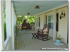 """Paint porch Ceilings """"Sky Blue"""" to keep Dirt Daubbers from making their nests... fools them into thinking it's the sky."""