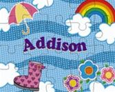 Personalized puzzles for kids in colorful spring designs make great Easter gifts. Ships in 3 business days.