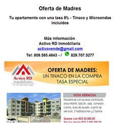 Tu apartamento con una tasa 8% - Tinaco y Microondas incluidos - Publicidad