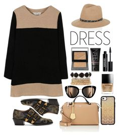 """""""Two-Tone Weekend"""" by youaresofashion ❤ liked on Polyvore featuring Chloé, Casetify, Charlotte Russe, Butter London, Burberry, NARS Cosmetics, rag & bone, Fendi, Edward Bess and twotonedress"""