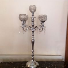 10 Fabulous 5 Arm Crystal Globe Candelabra for HIRE