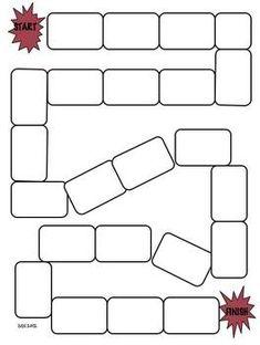 Story Game Board by michelle harper Preschool Board Games, Pe Activities, Board Games For Kids, Classroom Games, Blank Game Board, Board Game Template, Printable Board Games, Homemade Board Games, Online Fun