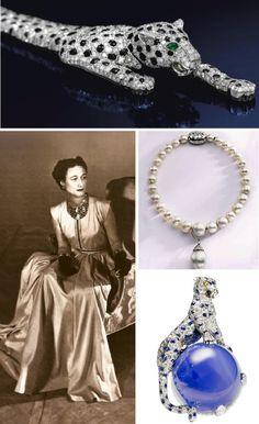 Wallis Simpson, Duchess of Windsor Wallis Simpson, Windsor, Royal Crowns, Tiaras And Crowns, Royal Jewelry, Fine Jewelry, Tiger Love, Diamond Brooch, Crown Jewels