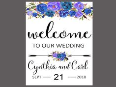 welcome by ForestHillPrintables on Etsy Welcome To Our Wedding, Wedding Invitations, Etsy, Decor, Decorating, Wedding Invitation Cards, Inredning, Interior Decorating, Wedding Stationery
