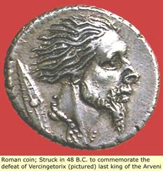 Original Black Roman Coin predates Julius Caesar Coin! Vercingetorix was the last King of the unified Celts/Gauls of France (Normandy).
