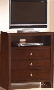 Ilana Contemporary Cherry Wood TV Console
