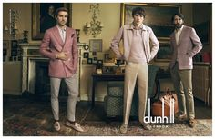For the spring summer 2015 advertising campaign of dunhill captured