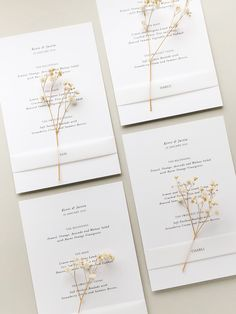 Neutral wedding menus for a classic modern bride. Dried flowers and vellum place cards. Wedding Place Cards, Wedding Menu, Wedding Reception Decorations, Gold Wedding, Wedding Table, Dream Wedding, Wedding Ideas, Bespoke Wedding Invitations, Personalised Wedding Invitations