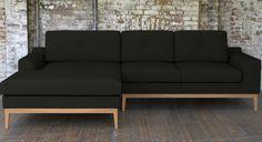Mansion House Grey Corner Sofa in Knebworth Anthracite - nice & wide