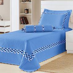 Cobre-Leito DOURADOS ENXOVAIS Thierry Azul Solteiro Bed Sets, Bed Sheet Sets, Linen Bedroom, Bedroom Decor, Bed Cover Design, Designer Bed Sheets, Home Room Design, Room Accessories, Bed Covers