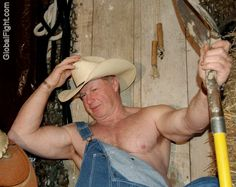 hairy cowboy tough man