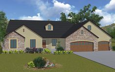 Addison - A traditional style rambler house plan - Walker Home Design