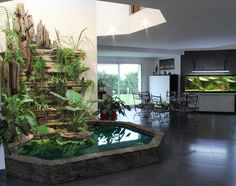 Indoor vertical garden, wish I could have this in the house!