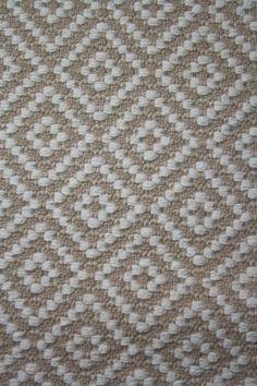 Handwoven rug in wool  Diamond Pattern   by FitchStudioWeavers, $700.00
