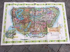 VINTAGE ORIGINAL  1964 WALT DISNEY'S MAGIC KINGDOM DISNEYLAND  MAP ANAHEIM CA  | eBay