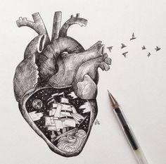 Tattoo idea. Anatomical heart.