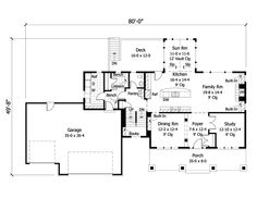 Eplans Country House Plan - Four Bedroom Country - 2982 Square Feet and 4 Bedrooms from Eplans - House Plan Code Cottage Style House Plans, Craftsman Style House Plans, Cottage Style Homes, Cottage House, European Style Homes, European House, Free Floor Plans, House Floor Plans, Bedroom Floor Plans