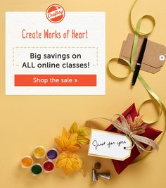 Skip the holiday shopping lines! Turn mall-time into me-time and create cakes and cookies that will dazzle at parties, as hostess gifts and more. Gain the skills you need with up to 50% off ALL online Craftsy Cake Decorating classes, today through 11/1. Find your perfect class now, because handmade brings a special kind of joy.