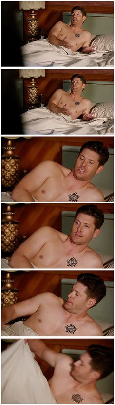 [gifset] 10x01 Black #SPN #DemonDean <-- OMG OMG S10 I AM SO EXCITED! And not just for shirtless Dean ;)