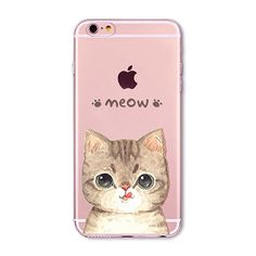 Cat iPhone case, transparent smartphone case with cat print. Cute cat case cover for Apple iPhones made of transparent soft silicone #cat #cats #cat lovers