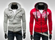 Today sweatshirt is not only thick and warm shirt over his head. This has been adopted even mens jackets in sporty style.
