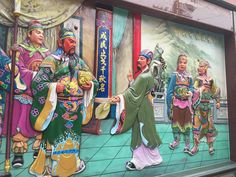 temple mural, Yanshui, Tainan, #Taiwan