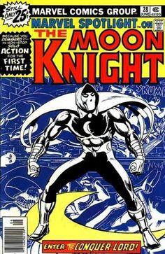 Marvel Spotlight 28 First Solo Moon Knight Key Issue Bronze Comic Book Werewolf Marvel Comic Books, Comic Book Characters, Comic Book Heroes, Comic Character, Comic Books Art, Comic Art, Book Art, Marvel Heroes, Marvel Fan