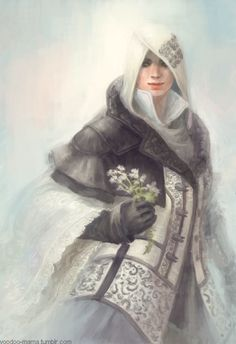 Evie Frye from Assassin's Creed Syndicate! This was my favorite Evie outfit. White color with lace cloak Evie Frye The Assassin, Assassins Creed Syndicate Evie, Sasuke, Naruto, Asesins Creed, All Assassin's Creed, Dragons, Art Anime, Rogues