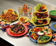 """""""What's our favorite part of summer? Entertaining, of course. Tell us your go to Fiesta item to use when entertaining a crowd so we'll be ready for picnic season."""" 