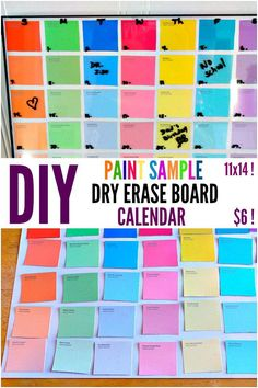 Diy Paint Chip Calendar  Diy Crafty    Paint Chip