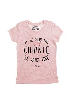 "Tee shirt ""Je ne suis pas chiante"" Sweat Original, T Shirt Original, Pull, Tee Shirts, Kawaii, Shopping, Clothes, Bag, Fashion"