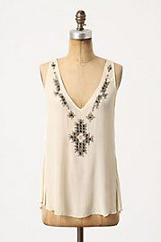 Anthopologie Beaded Bib Tank