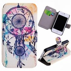Special Grains Dream Catcher  Pattern PU Full Body Case with Card Slot for iPhone 4/4S  – CAD $ 7.27