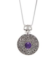 Loving this Amethyst & Sterling Silver Filigree Tulip Pendant Necklace on #zulily! #zulilyfinds