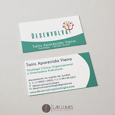 Desenvolvimento de Arte Gráfica para Consultório Psicológico.  Cartão de visita, cartão visita, desenvolva, psicologia, design, design gráfico