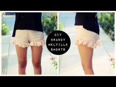 DIY: ruffle shorts / Faça você mesmo: short com babado