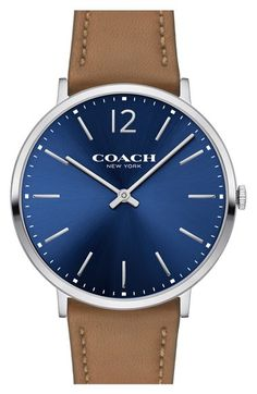 COACH 'Slim Easton' Leather Strap Watch, 40mm available at #Nordstrom